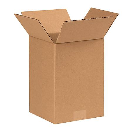 "Office Depot® Brand Corrugated Cartons, 7"" x 7"" x 10"", Kraft, Pack Of 25"