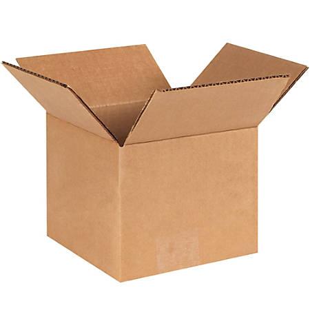 "Office Depot® Brand Corrugated Cartons, 6"" x 6"" x 5"", Kraft, Pack Of 25"
