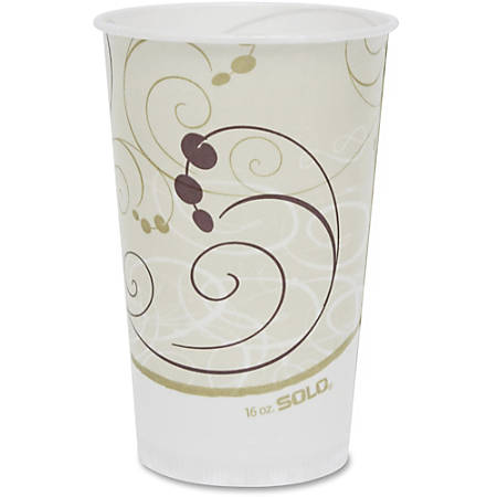 Solo Symphony Cold Paper Cups - 16 fl oz - 50 / Pack - White, Brown, Green - Paper - Cold Drink, Milk Shake, Smoothie