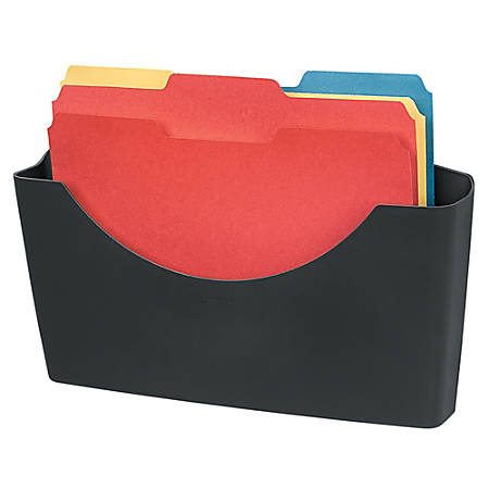 Fellowes® Partitions Additions™ 95% Recycled File Pocket, Dark Graphite
