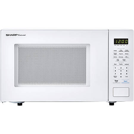 Sharp® Carousel 1.1 Cu Ft Countertop Microwave Oven, White