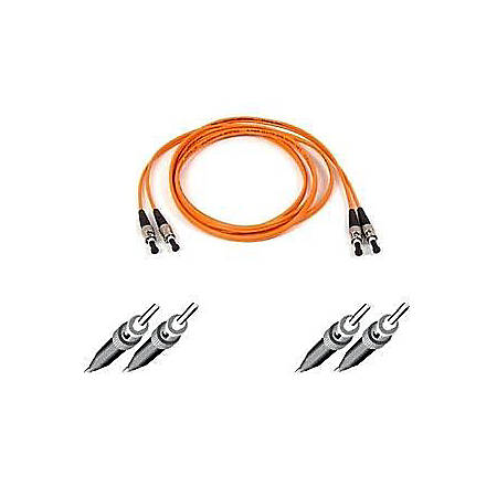 Belkin Fiber Optic Duplex Patch Cable - ST Male - ST Male - 3.28ft