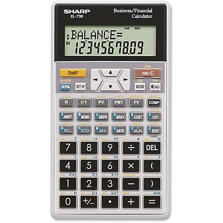 Sharp® EL-738C Financial Calculator