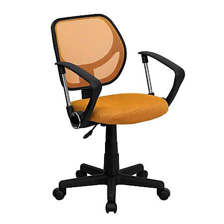 Flash Furniture Mesh Low-Back Swivel Task Chair, Orange/Black