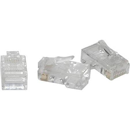 C2G RJ45 Cat5 8x8 Modular Plug for Flat Stranded Cable - 100pk