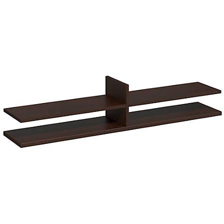 """Bush Business Furniture Components Elite Standing Table Desk Shelf Kit, 60""""W x 12 1/2""""D, Mocha Cherry, Premium Delivery Services"""