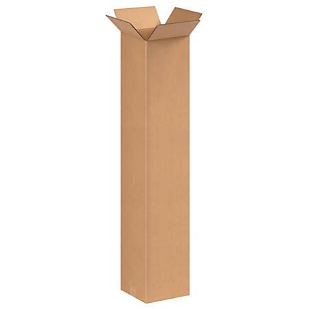 "Office Depot® Brand Corrugated Cartons, 8"" x 8"" x 40"", Kraft, Pack Of 20"