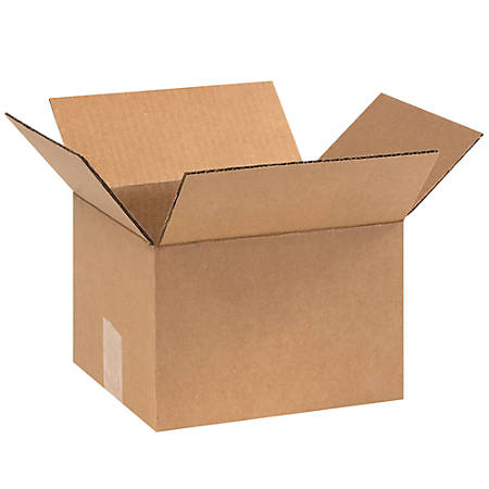 "Office Depot® Brand Corrugated Cartons, 9"" x 8"" x 6"", Kraft, Pack Of 25"