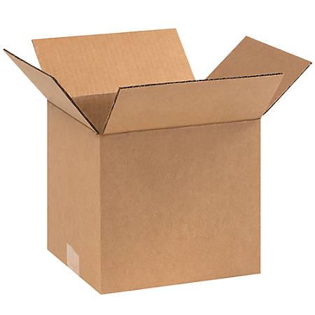 "Office Depot® Brand Corrugated Cartons, 9"" x 8"" x 8"", Kraft, Pack Of 25"