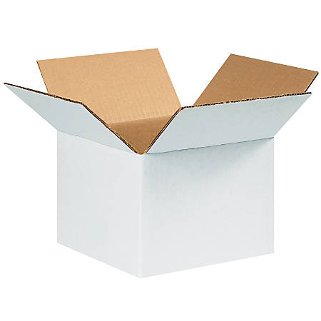 "Office Depot® Brand White Corrugated Cartons, 8"" x 8"" x 6"", Pack Of 25"