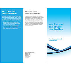 Customizable Trifold Brochure Blue Shades