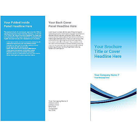 Customizable Trifold Brochure, Blue Shades