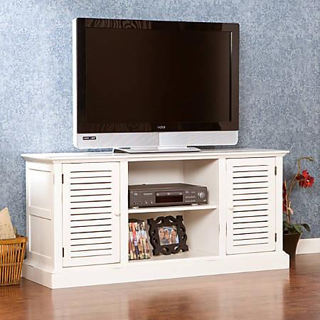 Southern Enterprises Antebellum Wooden Media Stand, Antique White