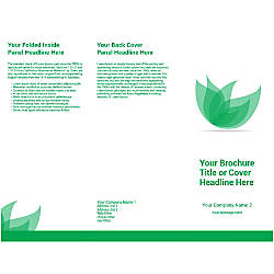 Customizable Trifold Brochure Green Flower
