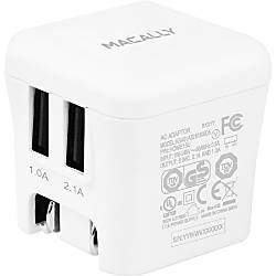 Macally 15W Two USB Port Wall