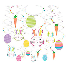Amscan Easter Hello Bunny Swirl Decorations