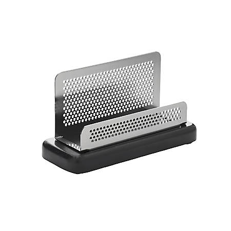 Rolodex distinctions punched metal and wood business card holder rolodex distinctions punched metal and wood colourmoves