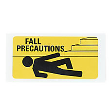 Medline Fall Precaution Labels 3 x