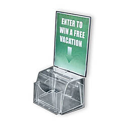Azar Displays Plastic Suggestion Box Molded
