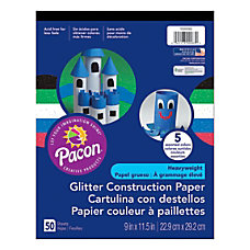 Pacon Glitter Construction Paper Pad 9
