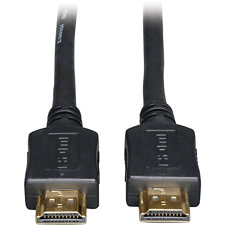 """Tripp Lite 35ft High Speed HDMI Cable Digital Video with Audio 1080p M/M 35' - HDMI for Audio/Video Device, TV, iPad, Projector, Satellite Receiver - 35 ft - 1 x HDMI Male Digital Audio/Video - 1 x HDMI Male Digital Audio/Video - Shielding - Black"""""""