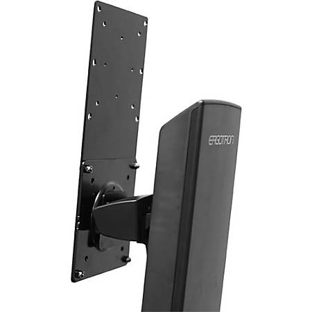 Ergotron Mounting Bracket for Flat Panel Display - 29.10 lb Load Capacity - Steel - Black