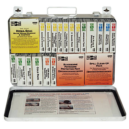 36 Unit Steel First Aid Kits, Weatherproof Steel, Wall Mount