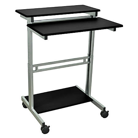 "Luxor 31 1/2""W Standup Desk, Black/Gray"