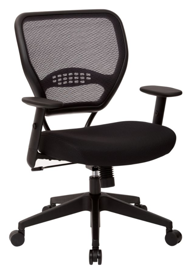 Charmant Office Star Professional Air Grid Mid Back Mesh Chair 42 H X 26 12 W X 25  14 D Black Frame Black Fabric By Office Depot U0026 OfficeMax