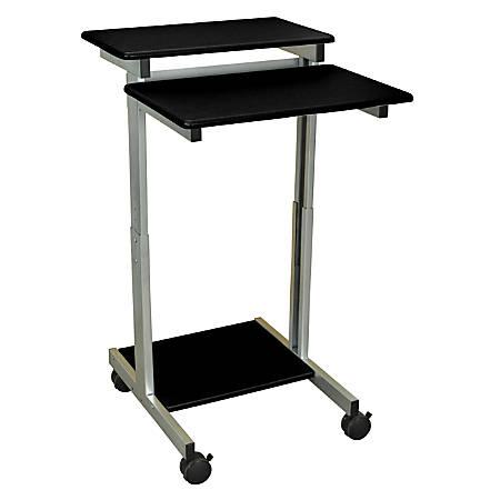 "Luxor 24""W Standup Desk, Black/Gray"