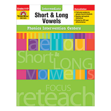 Evan-Moor® Phonics Intervention Center, Short And Long Vowels, Grades 4-6