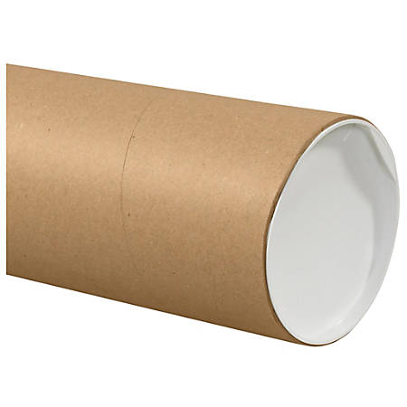 "Office Depot® Brand Jumbo Mailing Tubes, 6"" x 72"", 80% Recycled, Kraft, Case Of 10"