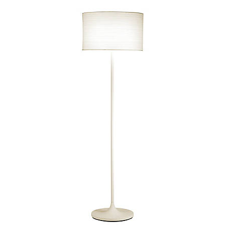 "Adesso® Oslo Floor Lamp, 60""H, White Shade/White Base"