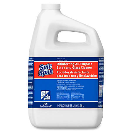 Spic and Span 3-in-1 All-Purpose Glass Cleaner - Spray - 1 gal (128 fl oz) - 3 / Carton - Light Blue