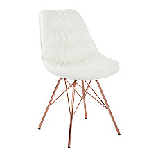 Ave Six Langdon Chair WhiteRose Gold
