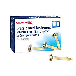 OIC Brass Plated Paper Fastener No