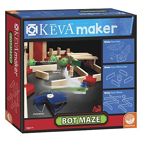 KEVA Maker Bot Maze Set, Natural Pine