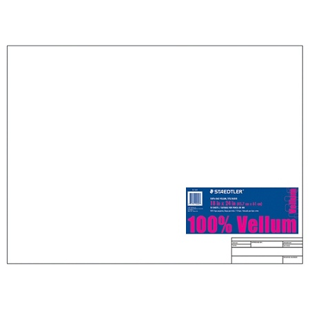 Staedtler Vellum Paper With Title Block And Border 18 X 24 10 Sheets