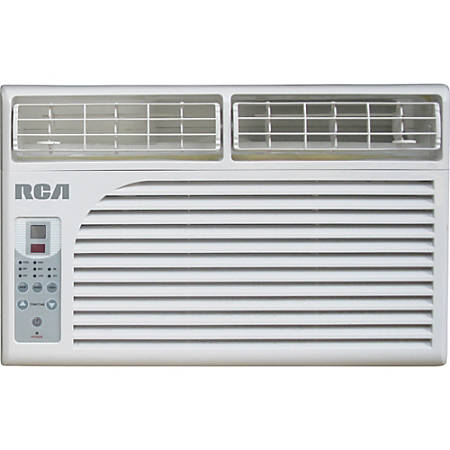 RCA 6000 BTU Window Electronic Air Conditioner & Remote Control - Cooler - 1758.43 W Cooling Capacity - 250 Sq. ft. Coverage - Washable - Remote Control - Yes - Ivory