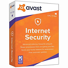 Avast Internet Security 2019 1 PC
