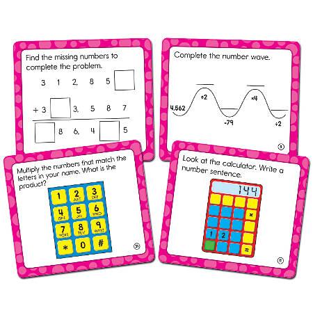 """Carson-Dellosa Math Challenge Curriculum Cut-Outs, 5"""" x 5 1/2"""", Multicolor, Grade 4"""