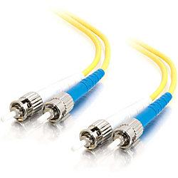 C2G-3m ST-ST 9/125 OS1 Duplex Singlemode PVC Fiber Optic Cable (LSZH) - Yellow - 3m ST-ST 9/125 Duplex Single Mode OS2 Fiber Cable - LSZH - Yellow - 10ft