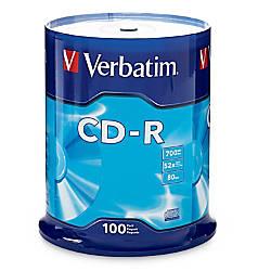 Verbatim CD R Recordable Media Spindle