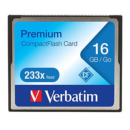 16GB 233X Premium CompactFlash Memory Card - 1 Card/1 Pack - 233x Memory Speed
