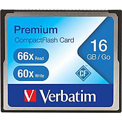 Verbatim 16GB 66X Premium Compact Flash