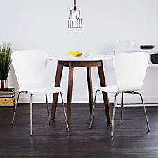 Holly Martin Cadby Side Chairs WhiteChrome