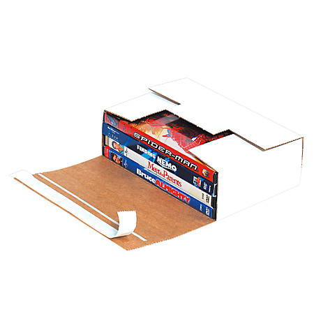 """Office Depot® Brand White Corrugated DVD Mailers, 7 11/16"""" x 5 7/16"""" x 2 7/16"""", Pack Of 200"""