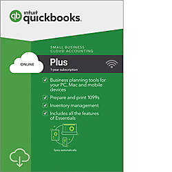 QuickBooks Online Plus 2018 1 Year