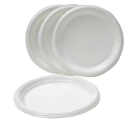 "Dart Heavyweight Plastic Plates, 9"" Diameter, White, Bag Of 125"