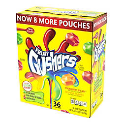 Gushers Fruit Pouches 09 Oz Box